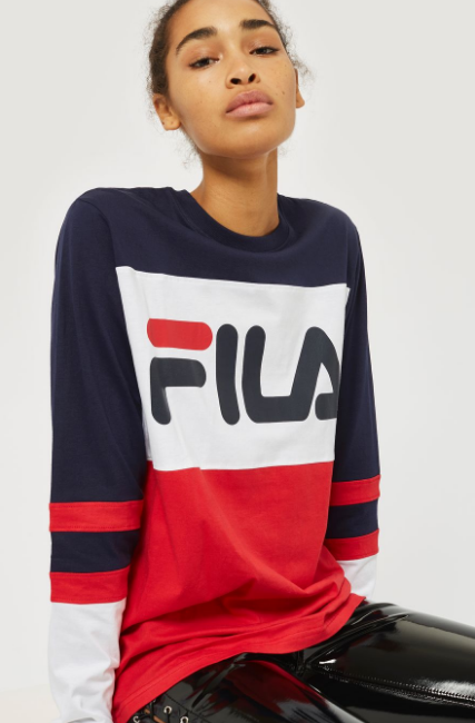 ... logos are back and will turn our boring clothes into catchy must-haves.  This FILA t-shirt from Topshop is the kind you need to look cool and stylish . 05dd7a7da388b